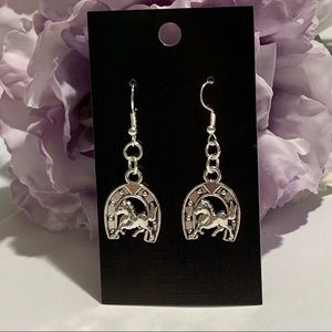 Horse & Horseshoe Fashion Dangle Earrings